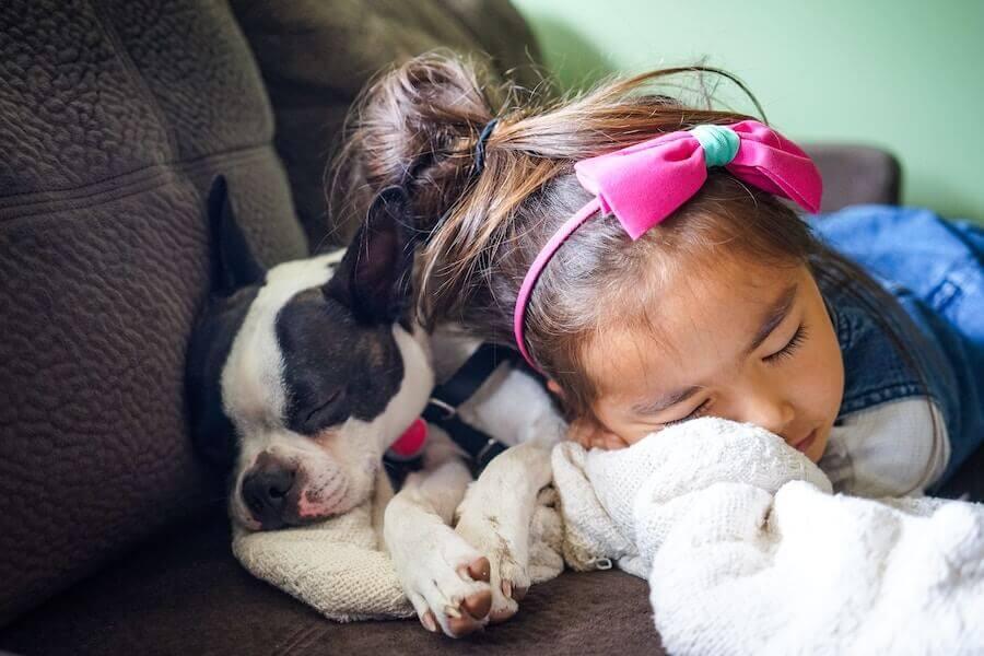 Kind beim Einschlafen
